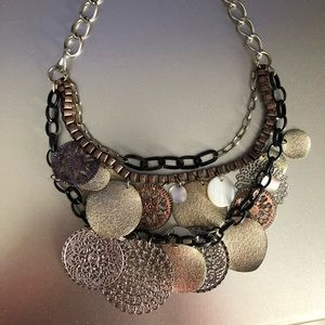Jewelry - Gold/Silver/Black Multi-Layer Necklace